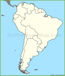 Blank Continent Map by Blank Map Of South America