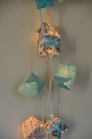 guirlande lumineuse papier japonais guirlande blue lagoon ou poissons guirlandes u0026 origami