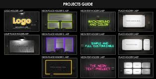 videohive neon lights pack u2013 free download after effects templates