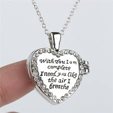 crystal love heart necklace images Wholesale dual side crystal heart lokcet necklace with you i am jpg