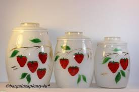 sunflower kitchen canisters 3 pc bartlett collins strawberry fad cookie jar or canister