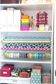 how to store wrapping paper wrapping paper cabinet organizing gift wrap organization station