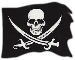 amazon com bumper stickers pirate flag skull and crossbones