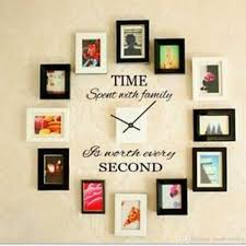 wall vinyl time second hand carved wall stickers removable