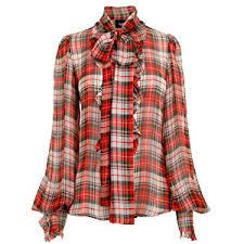 d g tartan chiffon ruffle shirt womens shirts womens desig