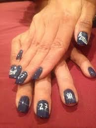 new york yankees nail art by reina nailpolis museum of nail art