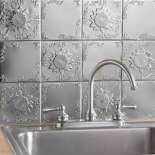 sunflower embossed solid tin tiles new arrivals brylanehome