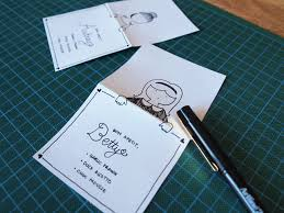 Diy Place Cards Diy Place Cards With Personalized Hand Drawn Characters Design Is Yay