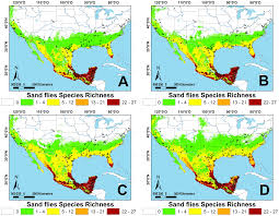 North And Central America Map by Current And Future Niche Of North And Central American Sand Flies