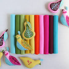 mmmcrafts curated felt color collection for swan a swimming ornaments