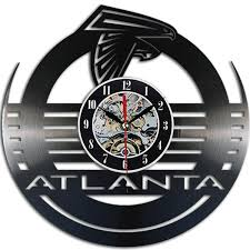 atlanta falcons 3d vinyl wall clock home decor offersplace
