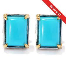 turquoise stud earrings gems en vogue sleeping beauty turquoise stud earrings