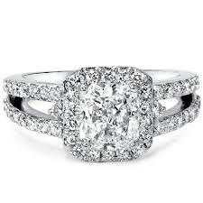 halo split shank engagement ring certified 1 65 ct cushion cut engagement ring split