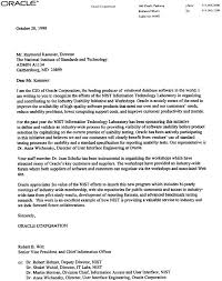 oracle coporation industry letters of support for iuw