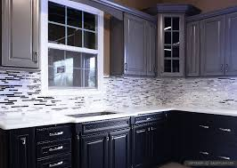 kitchen appealing kitchen backsplash glass tile dark cabinets