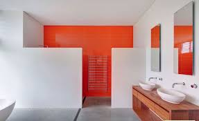 orange bathroom ideas 30 contemporary shower ideas freshome