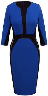 homeyee women u0027s stretch tunic pencil sheath dress u837 at amazon