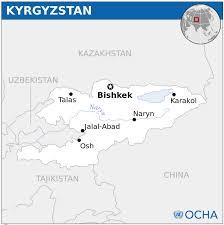 Bishkek Map Kyrgyzstan Map