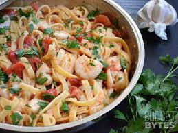 Dinner Ideas With Shrimp And Pasta Spicy Shrimp Tomato Pasta Budget Bytes