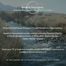 Duties Of A Executive Chef Kendrick Recruitment Linkedin