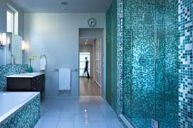 Small Blue Bathrooms Chic Aqua Blue Bathroom Tile Excellent Bathroom Designing Decor