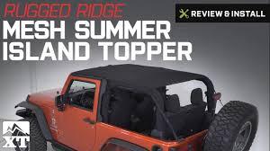 jeep wrangler rugged ridge mesh summer island topper 2010 2017 jk