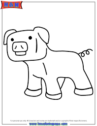 cartoon pig coloring page h u0026 m coloring pages