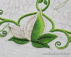 Fish Bone Stitch Embroidery Tutorials Stitch Shading On Leaves Embroidery Leaves And Stitch