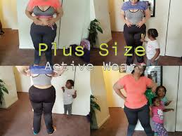 workout clothing for plus size women curly mommy vlogs try on