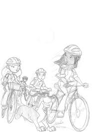 famous 5 on their bicycle sketch by famousmari5 on deviantart