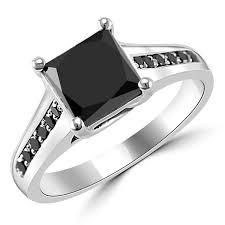 princess cut black engagement rings 1 50 carat princess cut black engagement ring