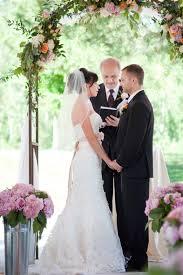 wedding arch garland iron wedding arch with floral garland elizabeth designs