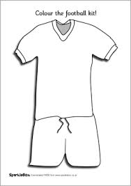 football kit colouring sheet sb234 sparklebox