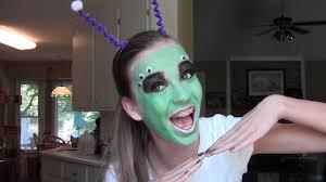 alien halloween costume alien halloween makeup tutorial youtube