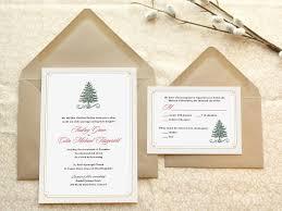 holiday wedding invitations evergreen christmas wedding invitations winter wedding