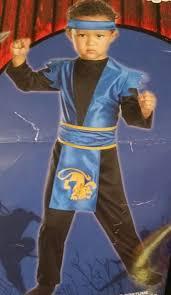 midnight ninja toddler boy halloween costume fists of fury blue
