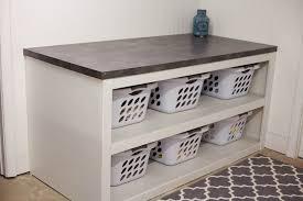 folding table with storage laundry folding station innovative laundry folding table with