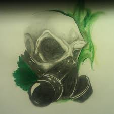skull with gas mask by angelo10c on deviantart