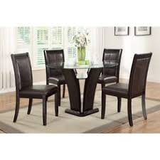Overstock Dining Room Sets Overstock Com Dark Espresso 48 Inch Tempered Glass Dining Table