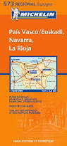 Pais Vasco Map Michelin Map 573 Regional Spain Pais Vasco Navarra La Rioja