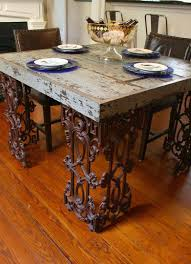 Barn Wood Dining Room Table 119 Best Metal Table Legs Images On Pinterest Iron Furniture