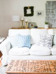 Ikea Slipcovered Sofa How To Keep A White Slipcovered Sofa Clean Diy Passion