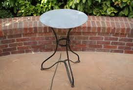 Zinc Bistro Table Vintage Black Bistro Table With Zinc Top Omero Home