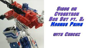 siege auto class siege on cybertron box set part 2 leader class magnus prime review