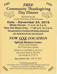 free community thanksgiving dinner mellingers