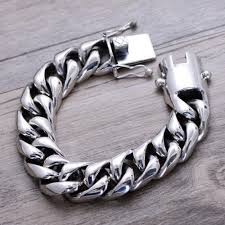 silver chain bracelet men images Men 39 s sterling silver heavy curb chain bracelet accessorizing jpg