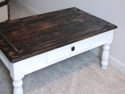 stained table top painted legs distressed wood coffee table best of white painted wood coffee table