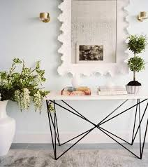 Small Entry Table Furniture The White Frame With Entryway Console Table With Light