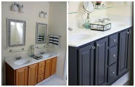 Bathroom Furniture Oak 4 Ideas How To Update Oak Wood Cabinets White Countertops