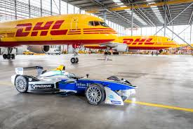 fastest car in the world 2050 dhl delivers all electric formula e racing cars to new york city